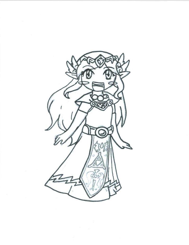 Toon Zelda Lines By Sweeet Caroline