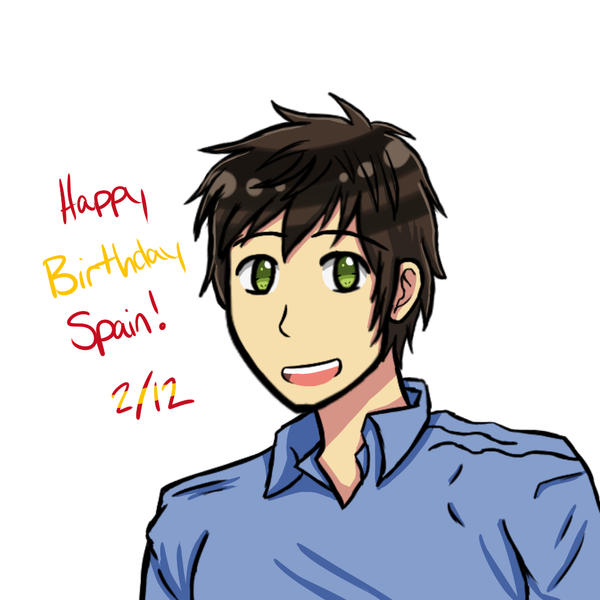 Aph: Happy Birthday Spain! '16 by Wolf-Kid1000