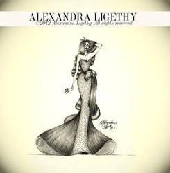 ALEXANDRA LIGETHY - PEARL GOWN