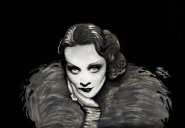 Marlene Dietrich by AlexandraVeda