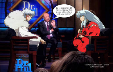 Sesshomaru and Inuyasha at the Dr Phil Show by AlexandraVeda