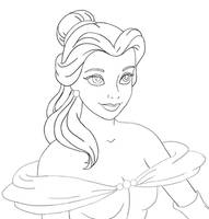 belle lineart by flauschi-leoni