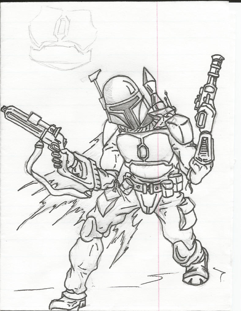 Pin jango fett colouring pages on pinterest for Jango fett coloring pages