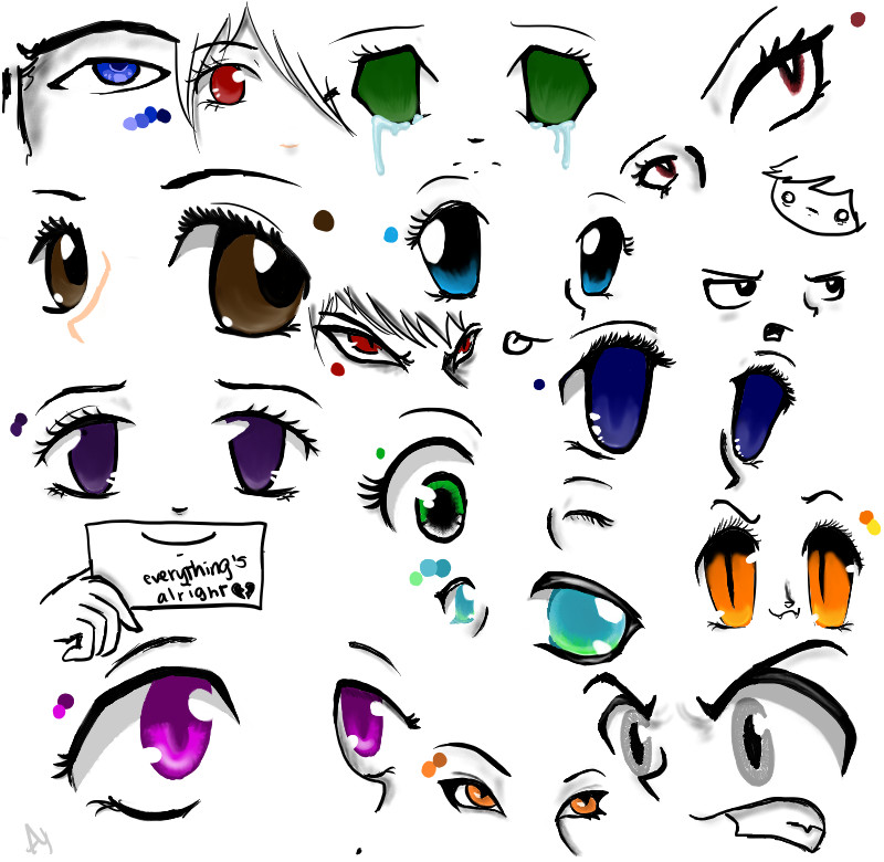 Girl Anime Eyes Color | www.imgkid.com - The Image Kid Has It!