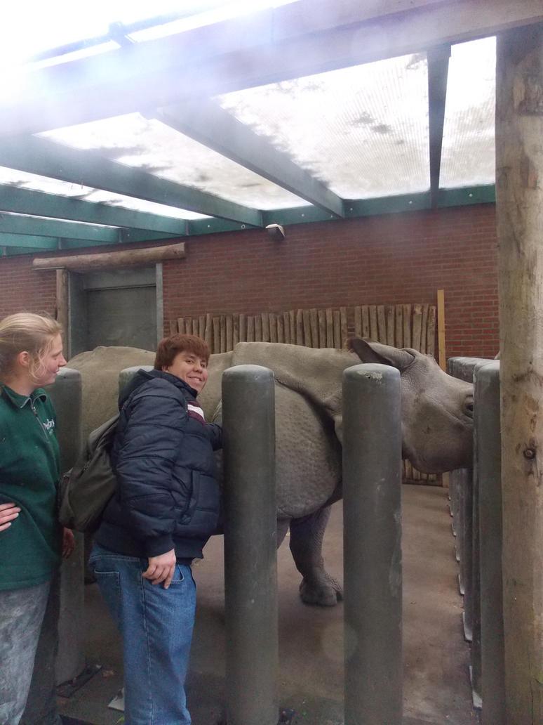 Amersfoort Zoo - Close encounter with a rhino by SSJGarfield