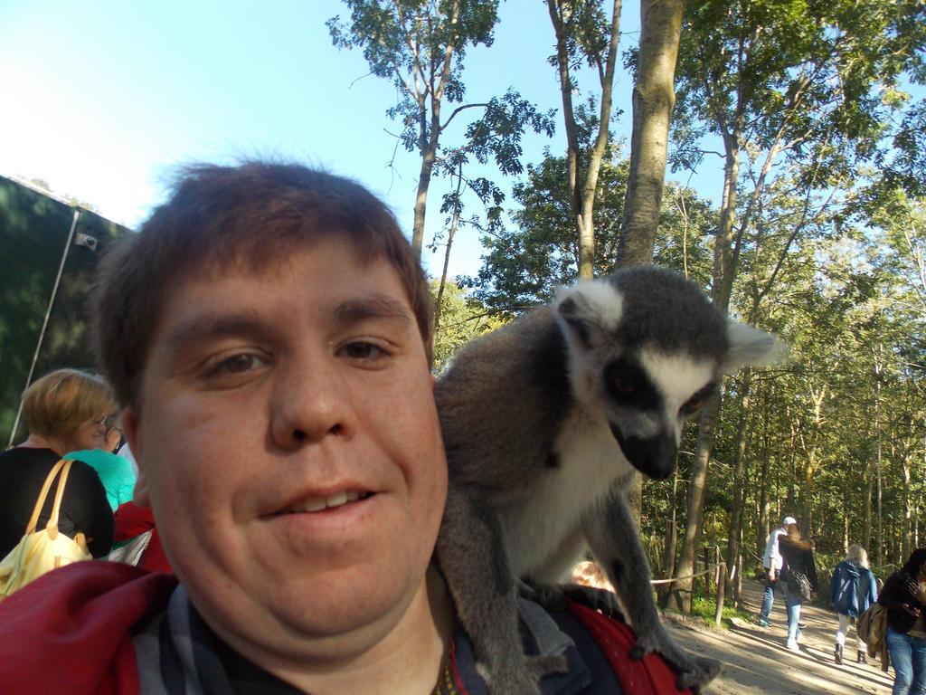 Selfie with a lemur by SSJGarfield