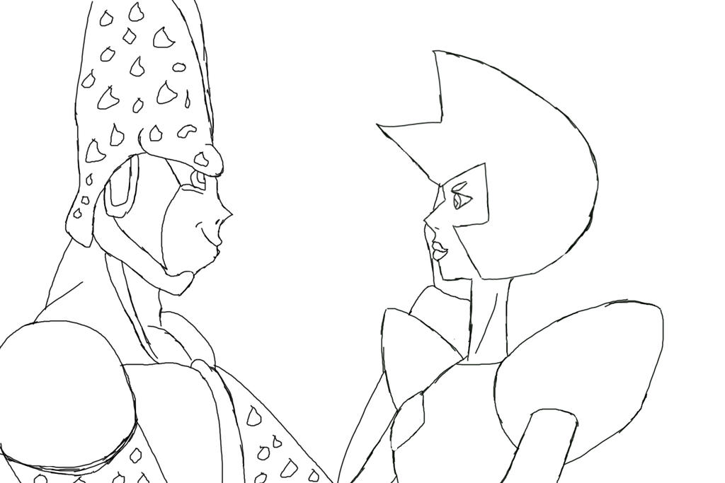 Perfect Cell x Yellow Diamond WIP by SSJGarfield