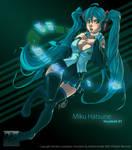 Miku Hatsune by DarkZeroInside