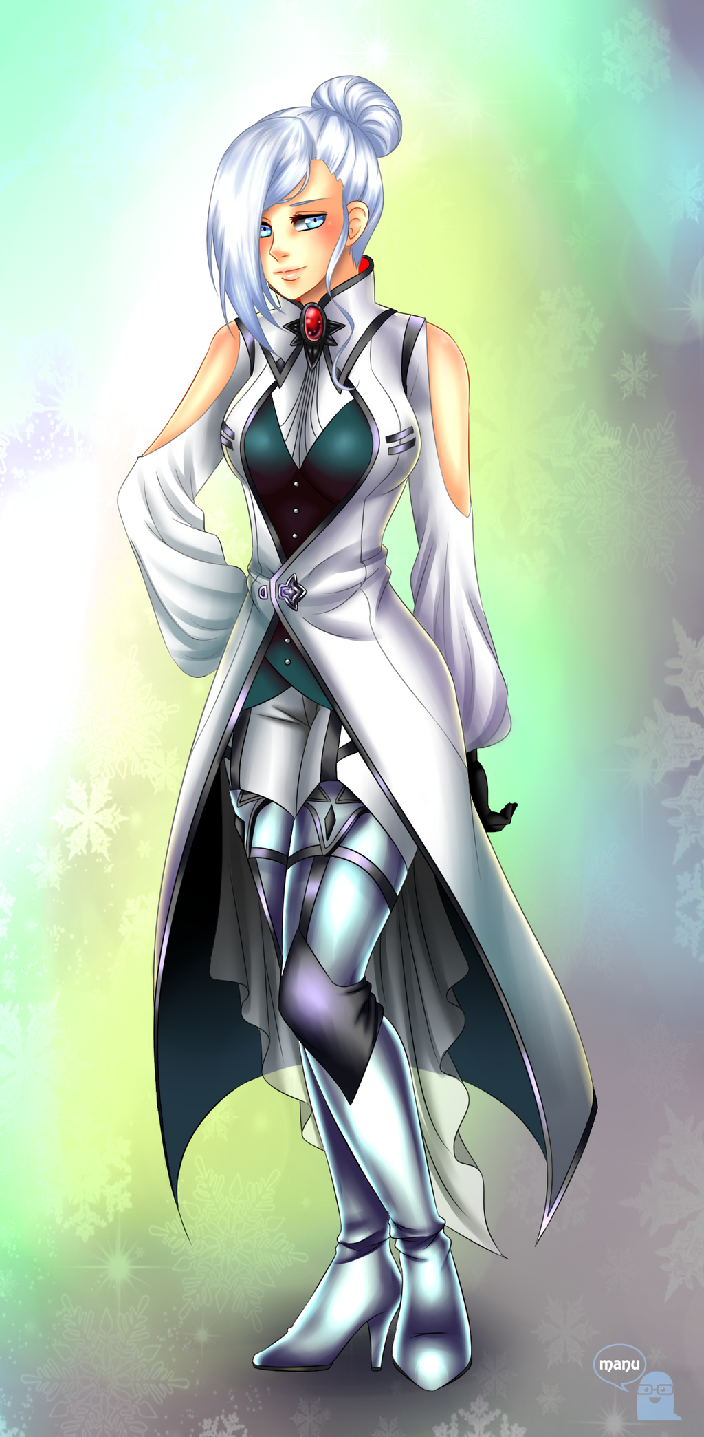 commission  winter schnee by manu