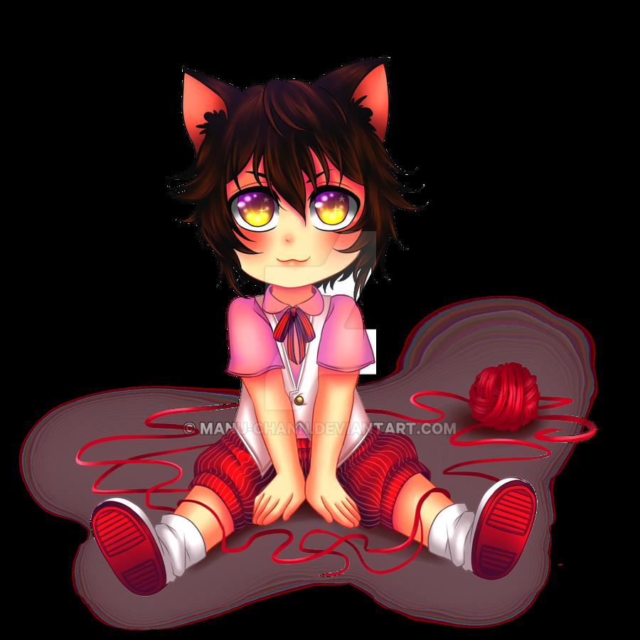 chibi commission  kitten boy by manu