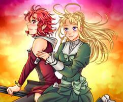 March Patreon Reward: Fine and Izetta by manu-chann