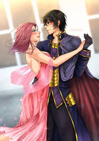Commission: Kallen's and Lelouch's Dance by manu-chann