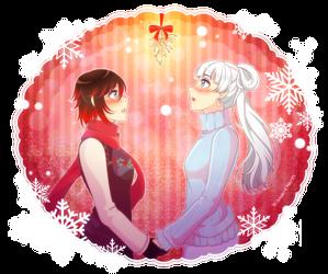December Patreon Reward: White Rose Mistletoe by manu-chann