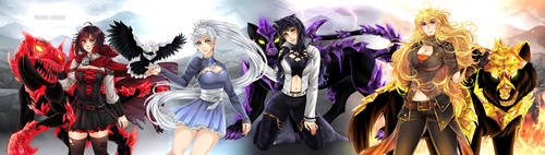 Team RWBY Crystal Grimm by manu-chann
