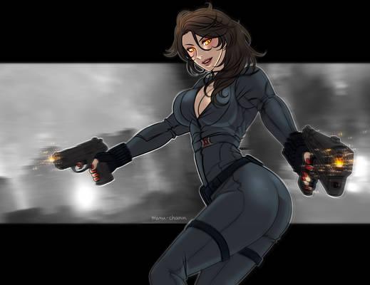 Patreon Free Sketch: Black Widow Cinder