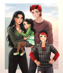Commission: Taurus-Hunter Family by manu-chann