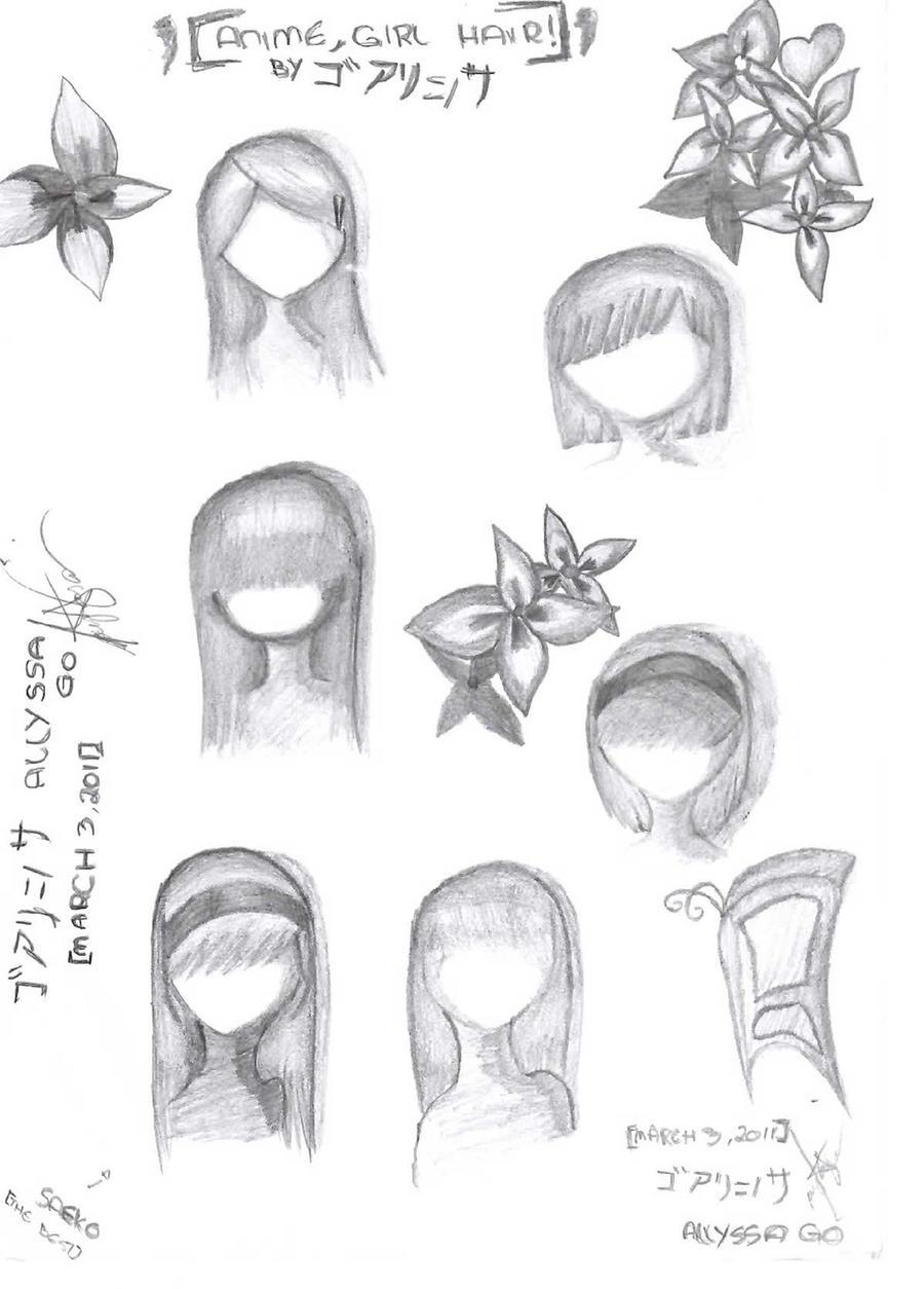 Anime Hairstyles Girl By Allyssanore3n98 On Deviantart