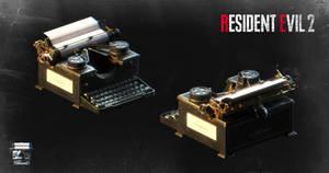 Resident Evil 2 (remake) - Typewriter_XPS