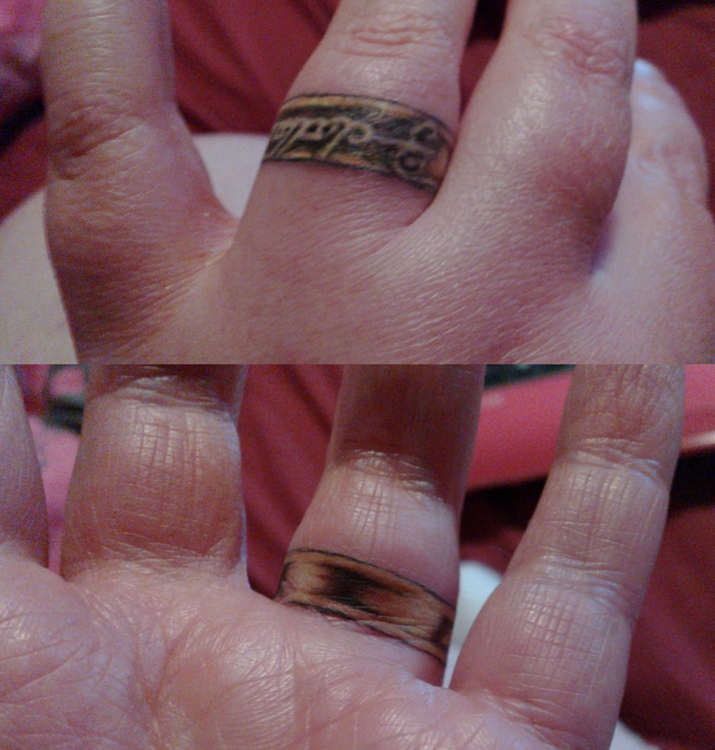 Lord Of The Rings Ring Inscription Tattoo