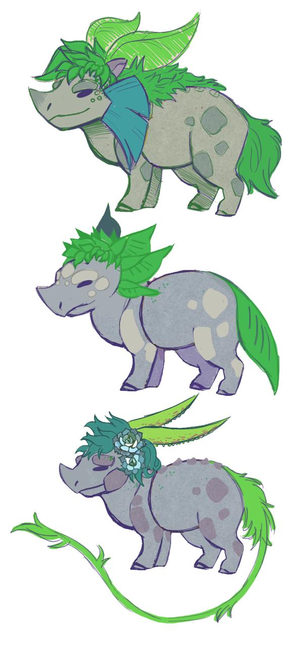Plant Rhinos by Meeshi