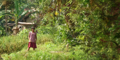La fille en rouge (Bali)