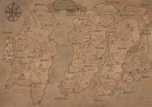 Lands of Natan Fantasy map