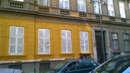 Partial facade renovation