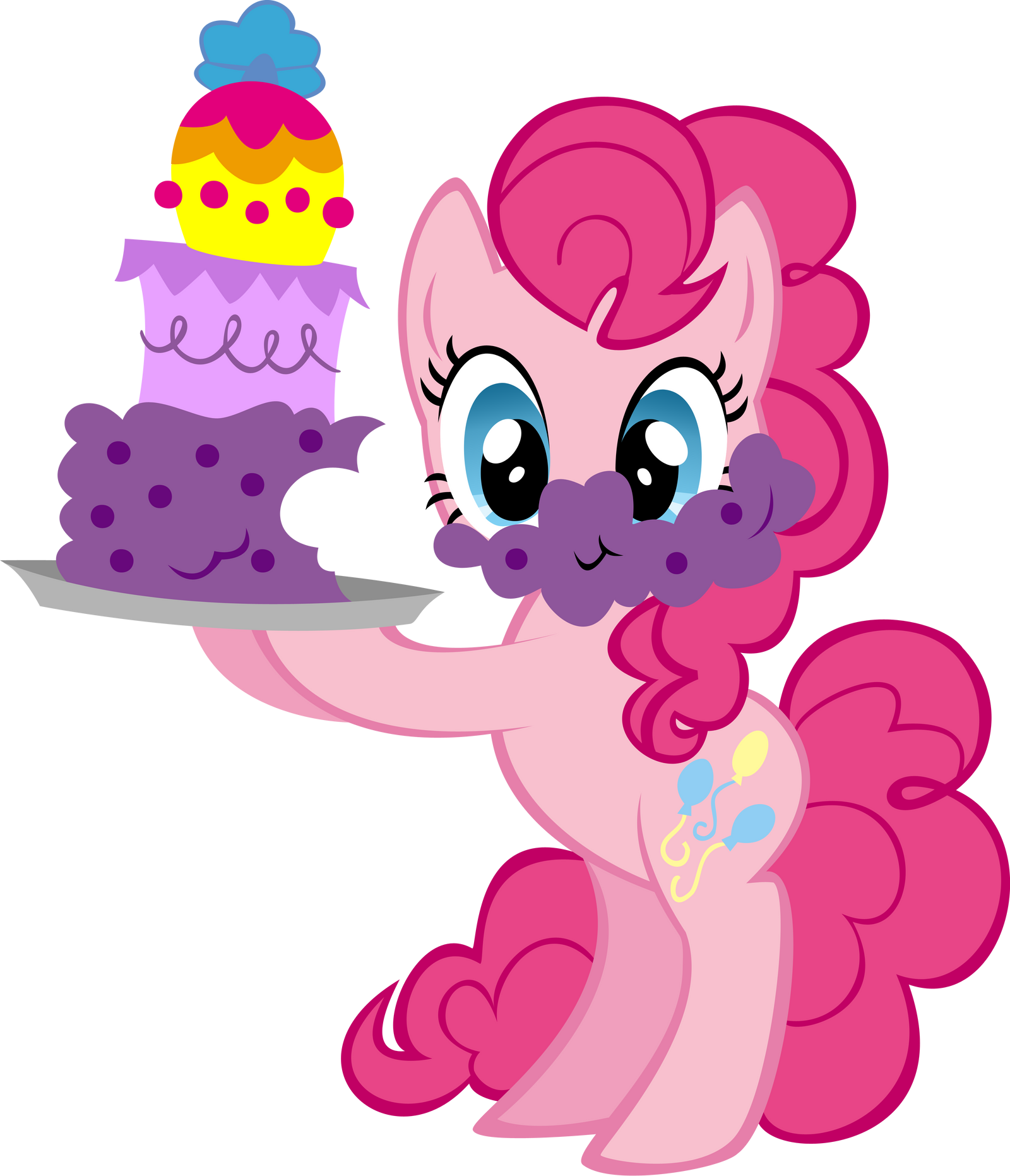 Pinkie Pie with Cake by Ernestboy