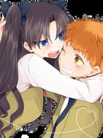 Fate/stay night - Emiya Shirou + Tohsaka Rin by JiinDo-1234