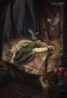 Tsarevna's dream by Anna-Roberts