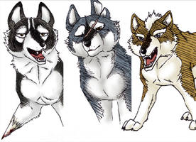 GNG wolves by snailkites