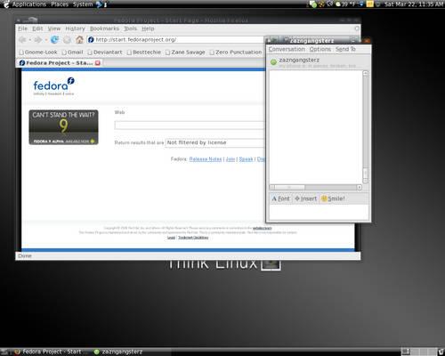 Fedora 8 Desktop March 22