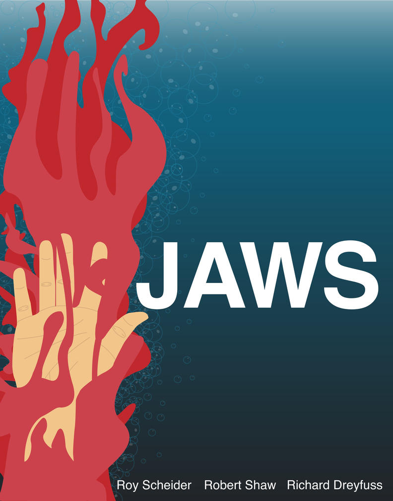 Jaws movie poster by Jclarsen on DeviantArt