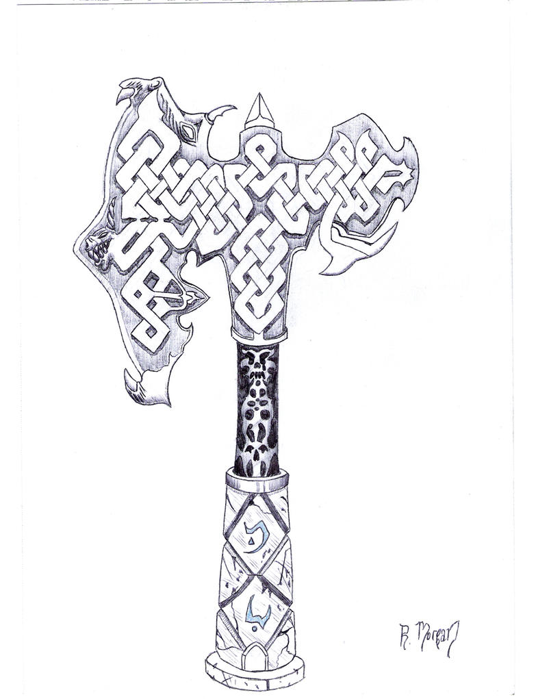 celtic knot hrost 39 s axe by corax2009 on deviantart. Black Bedroom Furniture Sets. Home Design Ideas