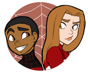 Spiderman and Spiderwoman by ActionKiddy