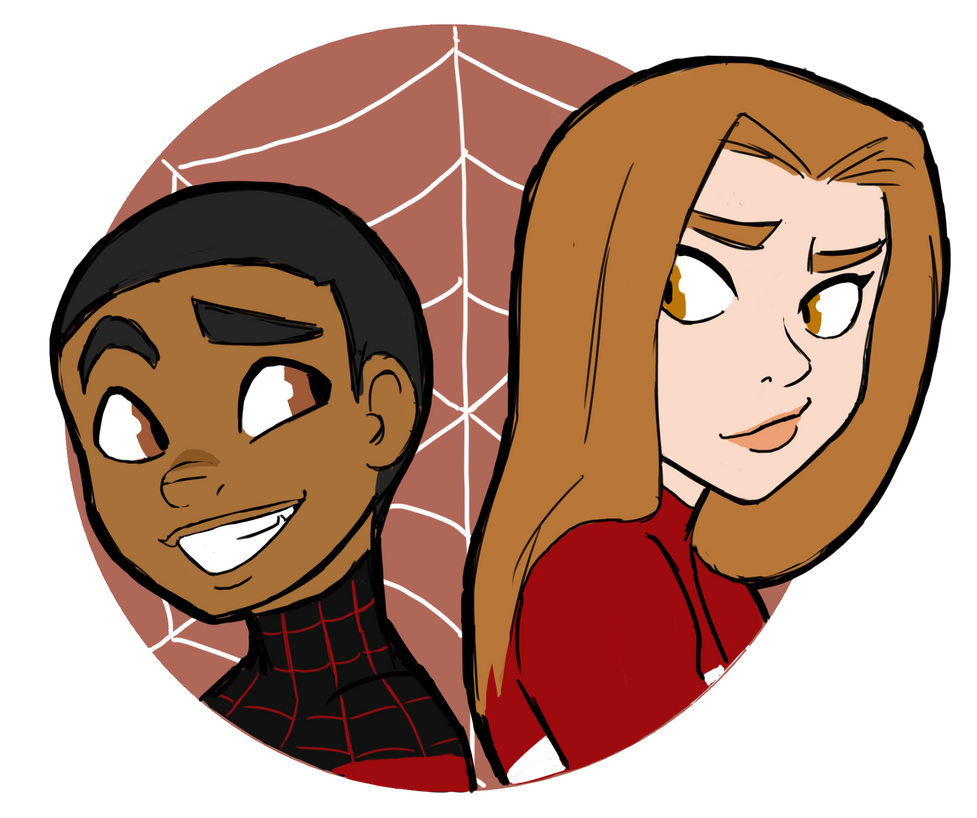 Spiderman and Spiderwoman by ActionKiddyUltimate Spiderman And Spiderwoman