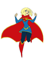 SuperGirl New 52 redesign by ActionKiddy