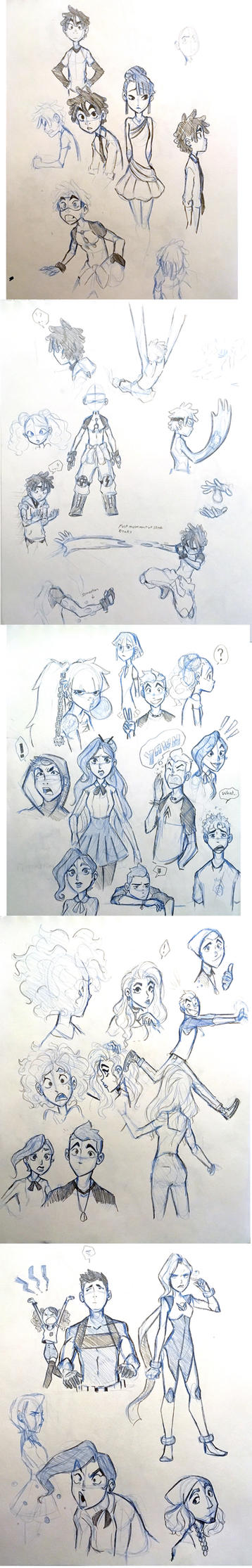Sketch Dump Day 1 by ActionKiddy