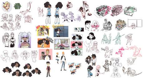 Big SketchDump by ActionKiddy