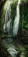 Rainforest's waterfalls