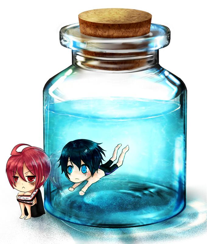 Bottle Meme :: Haruka x Rin by NekuruK