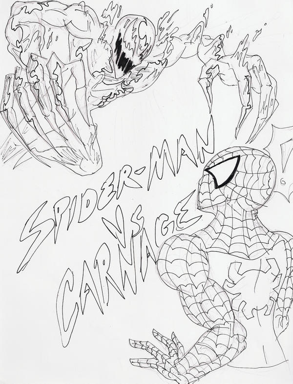 carnage spider man coloring pages - photo#26