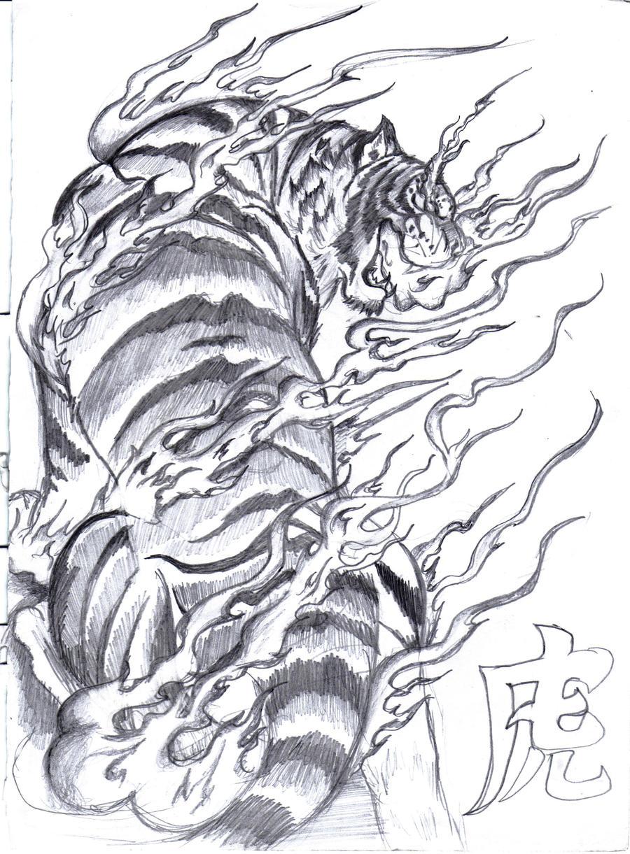 Tattoo ideas for Women: Tiger Tattoo Drawing