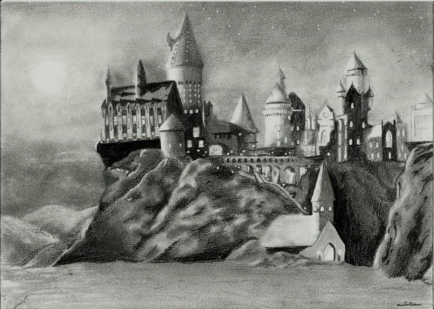 Hogwarts by BakaBlueChi