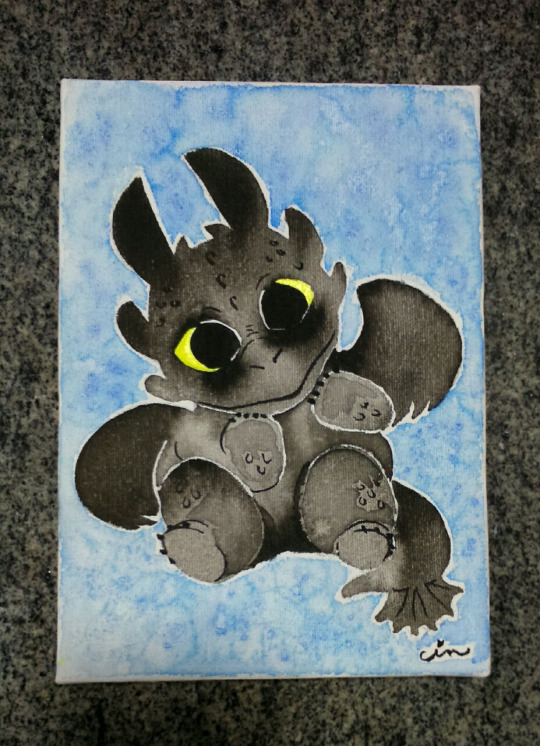 Toothless painting by BakaBlueChi