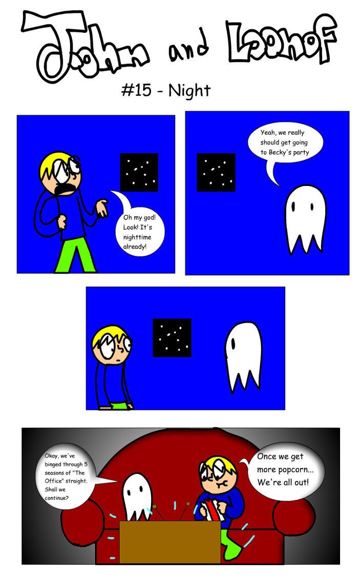 John and Loonof comic #15 - Night by John-and-Loonof