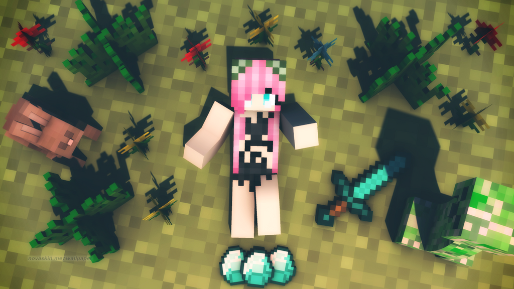 photo collection minecraft girl wallpaper