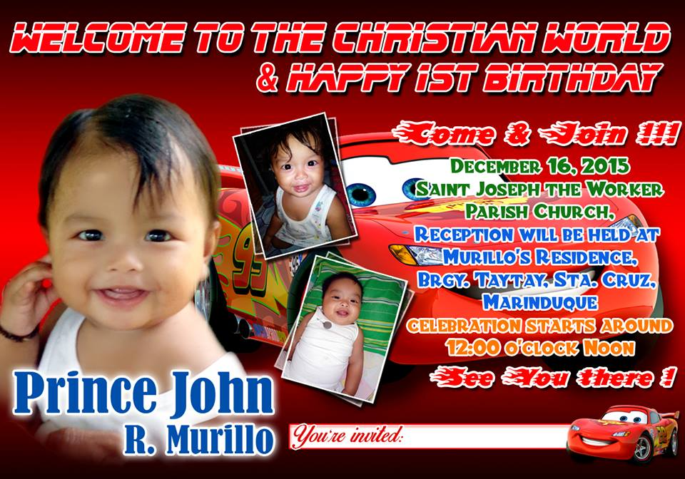 Cars Birthday and Christening Invitation Layout by paraderog on ...