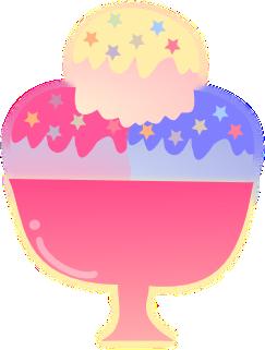 Sorvete colorido by GiihReis