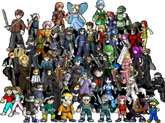 video game characters by aggiepuff on deviantart
